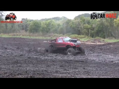 Little Red Chevy Mud Truck Testing The Mud At Extreme ORV Expo 2018