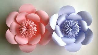How To Make Paper Flowers - Paper Flower tutorial - Step by Step - width=