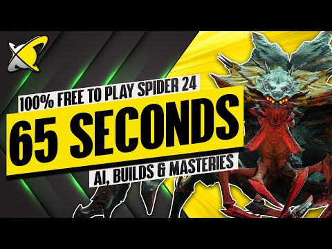 """SPIDER 24 """"100% Free To Play Team"""" In 65 Seconds 