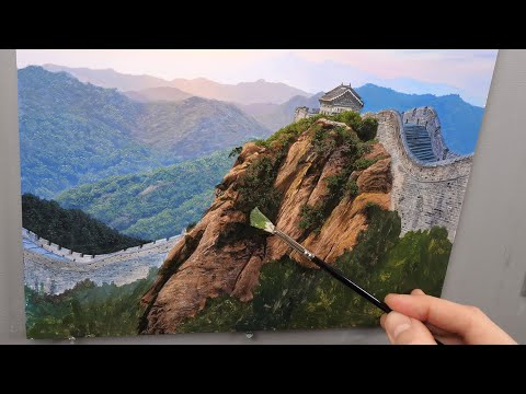 Painting The Great Wall | Time lapse