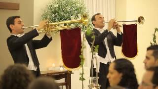 Marcha Nupcial de Mendelssohn - Clarinada Clarins de Roma - Cortejo Coral e Orquestra