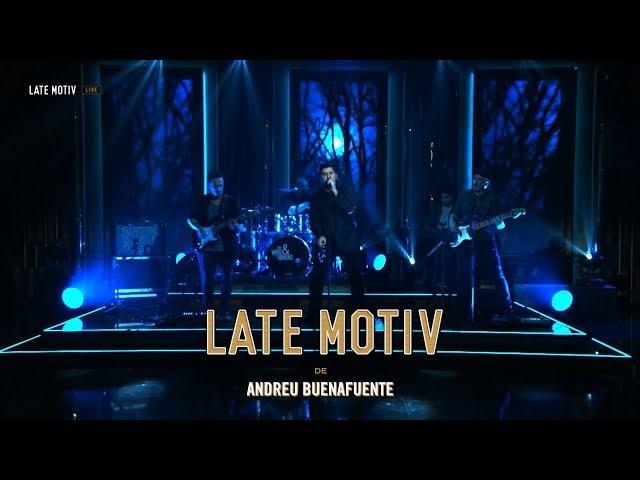 Actuación en directo en el programa Late Motiv de Andre Buenafuente, en Movistar+ Wooden - Masquerade