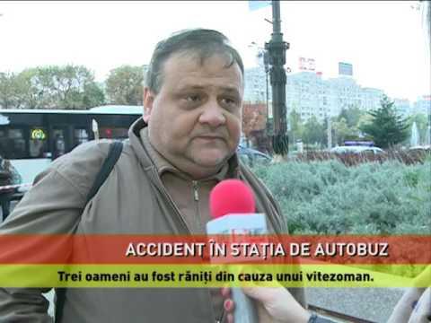 Accident în staţia de autobuz
