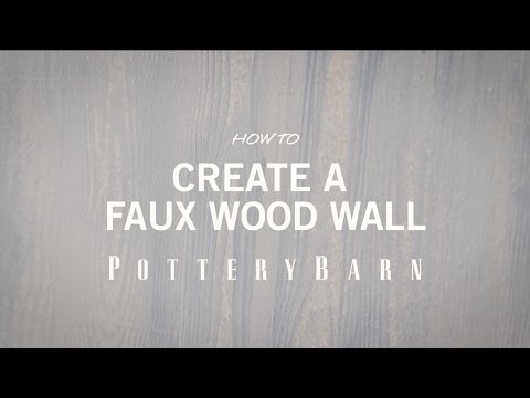 How To Create a Faux Wood Wall