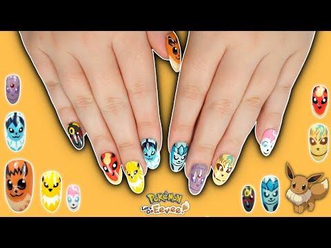 Pokémon Eevee Evolution Nail Art Tutorial - Let's go, Eevee!