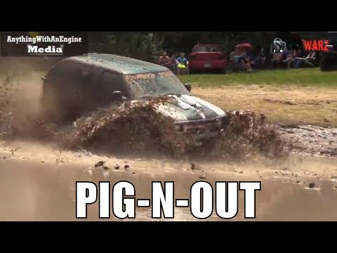 PIG N OUT Chevy Truck Digs In Deep At Lutterloh's Spring Mud Bog