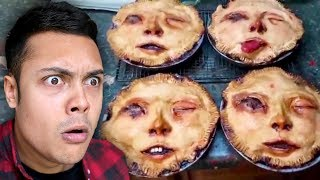 she made a PIE from HUMAN FACES !?! (Reacting To Memes)