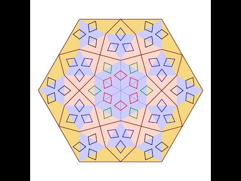 伊斯蘭的幾何拼貼 08A
