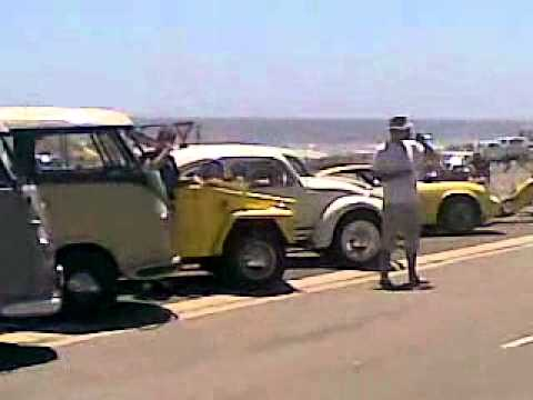 VW Campervans near Table Mountain.mp4