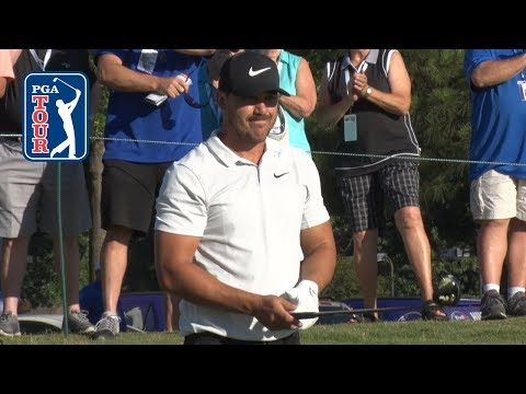 Brooks Koepka's pre-round warm-up routine