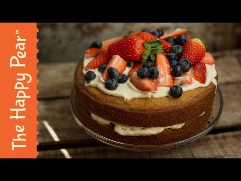 VEGAN VICTORIA SPONGE CAKE | THE HAPPY PEAR