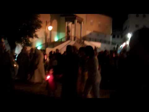 Festive wedding procession in Chefchaouen, Morocco