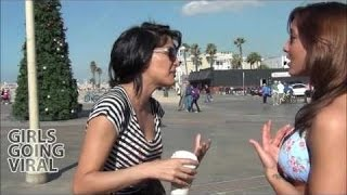 Melhores videos - Menina que beija meninas quentes aleatórias na praia!   parte 4