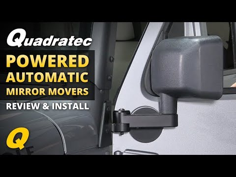 Quadratec Powered Automatic Mirror Movers for 2011-2018 Jeep Wrangler JK