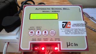 Automatic School bell system (Demo)