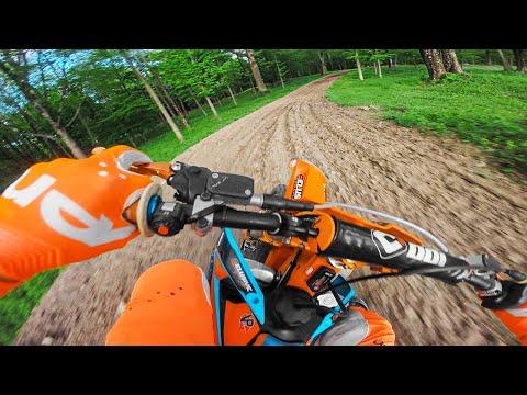 KTM125 2-Stroke Pinned on Backyard Motocross Track