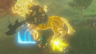 Linkle Shows a Gold Lynel The Fully Powered Master Sword - Zelda Breath of the Wild