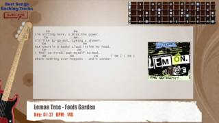 Lemon Tree - Fool's Garden Bass Backing Track with chords and lyrics
