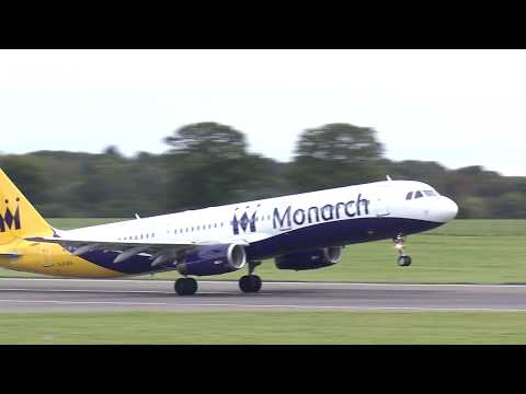 Farewell Monarch - final aircraft leave Luton Airport