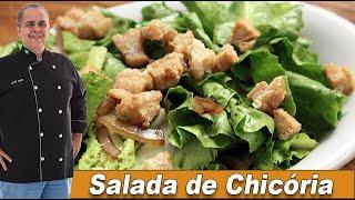 Salada de Chicória com Torresmo do Chef Taico