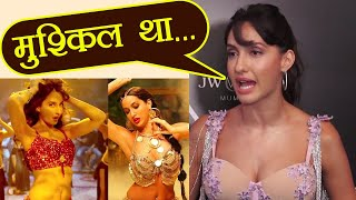 Dilbar song: Nora Fatehi says she was NERVOUS while filming the song; Watch Video | FilmiBeat