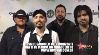 Rosa de Saron manda recado para fãs de Belo Horizonte