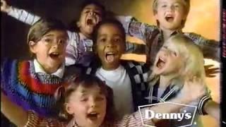 Denny's Kids Sing Flintstones Theme 80s Commercial (1989)