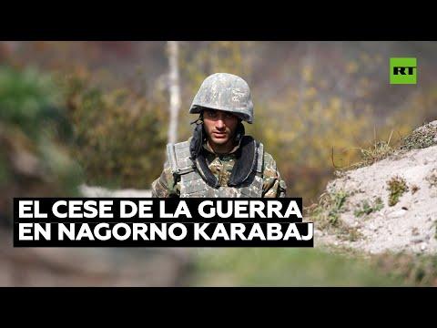 Azerbaiyán, Armenia y Rusia acuerdan poner fin a la guerra en Nagorno Karabaj