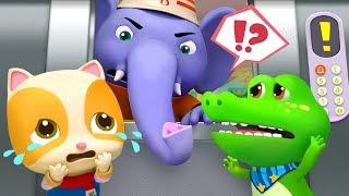 The Elevator is Broken   Elephant Firefighter   Play Safe   Nursery Rhymes   Kids Songs   BabyBus