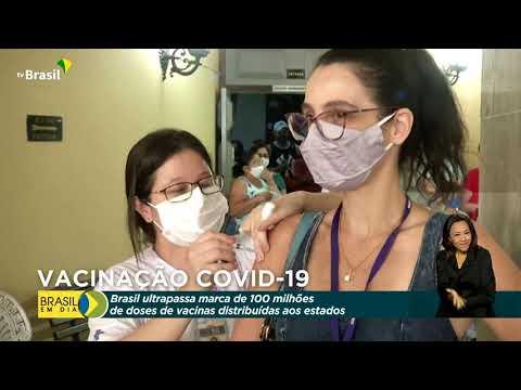 Brasil distribuiu mais de 100 milhões de doses contra covid-19
