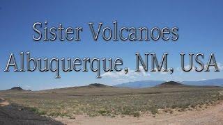 Sister Volcanoes at Albuquerque New Mexico USA