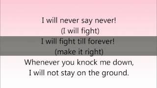 Never say never justin bieber lyrics