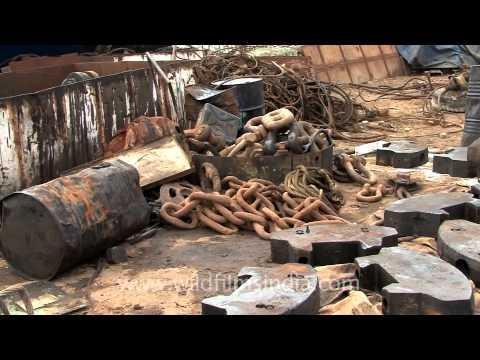 Scraped heavy metals at Alang!
