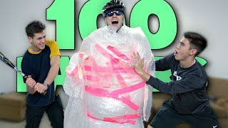 100 Layers Of Bubble Wrap Challenge