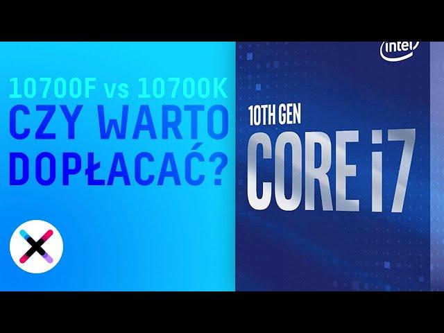 CZY WARTO DOPŁACAĆ? 🤔 | Porównanie i7-10700F oraz i7-10700K: OC, szybszy RAM - co lepsze?