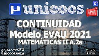 Imagen en miniatura para LIVE!!! Modelo EvAU 2021 - Matemáticas II 07 - Ejercicio A.2a - Continuidad