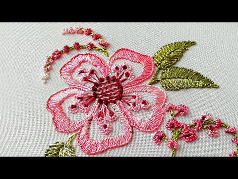 Brazilian  Embroidery| Fantasy Fern flower * Вышивка Цветок Фантазия