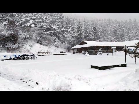 Abant'ta kar kalınlığı 50 santime ulaştı
