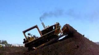 Caterpillar D8 High Output Bull Dozer Lugging Down