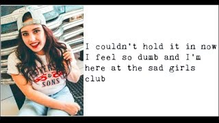 """Sad Girls Club"" - Cimorelli (Lyrics)"