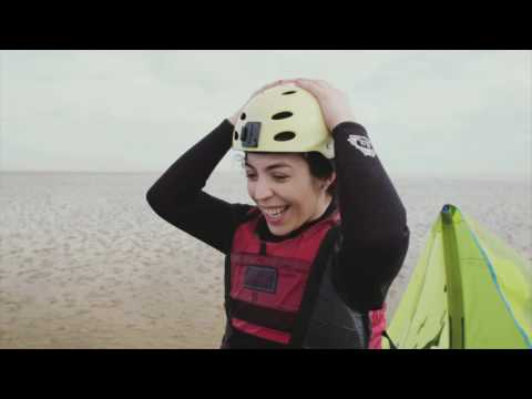 Kite surfing in Whitstable