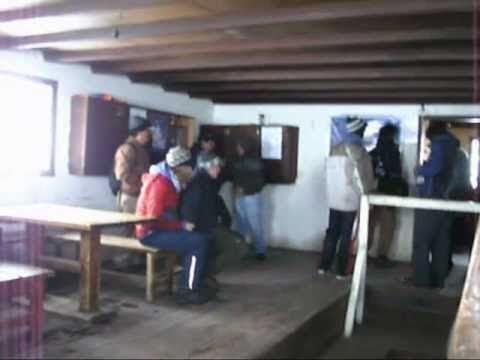 Dentro del segundo refugio del Chimborazo