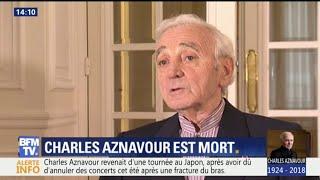 """""""Il faut rire jusqu'au bout..."""" Quand Charles Aznavour évoquait la mort"""