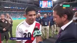 Edison Flores y el excelente gesto con un hincha estadounidense tras el triunfo peruano en Miami