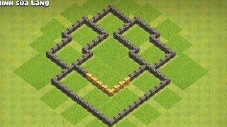 [Clash of clan]Cách xếp nhà 5 thủ tốt