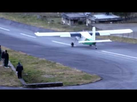 Pilatus 6 takeoff from Lukla, most dangerous airport in the world..Nepal