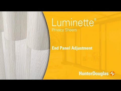 Luminette® Privacy Sheers - End Panel Adjustment - Hunter Douglas