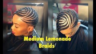 Medium lemonade braids/feed in braids