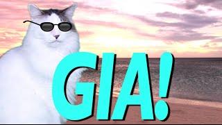 HAPPY BIRTHDAY GIA! - EPIC CAT Happy Birthday Song
