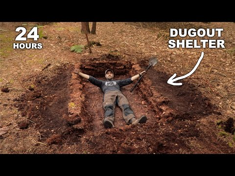 24 HOURS: Sleeping in a Dugout Pit Shelter